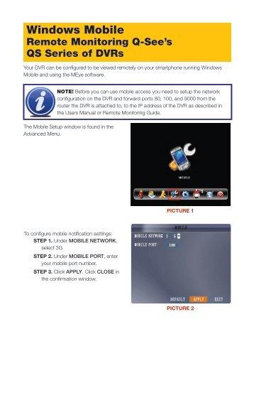 Windows Mobile - Q-See