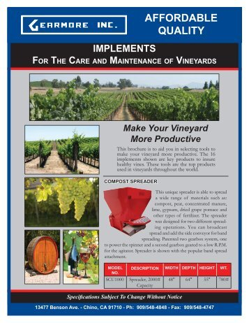 Implements for Vineyards