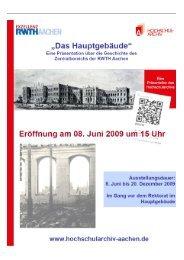 Austellungskatalog - Hochschularchiv der RWTH Aachen