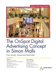 The Onspot Digital Advertising Concept in Simon Malls