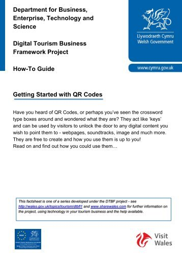 Getting Started with QR Codes Department for ... - Share Wales