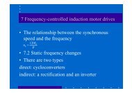 7 Frequency-controlled induction motor drives • The relationship ...