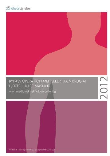 MTV-rapport om bypass operationer - Sundhedsstyrelsen