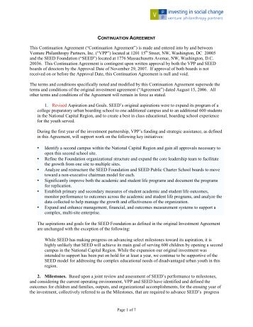 The value of investing in youth venture philanthropy partners seed continuation agreement 2007 venture philanthropy partners platinumwayz