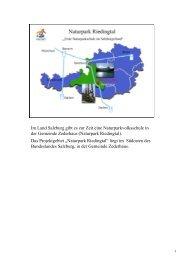 Im Land Salzburg gibt es zur Zeit eine ... - Naturparke