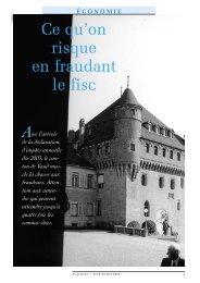 Ce qu'on risque en fraudant le fisc - Université de Lausanne
