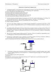 Oleodinamica e Pneumatica Esercitazioni numeriche - Dimeca