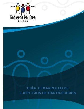 guía: desarrollo de ejercicios de participación - Gobierno en línea.