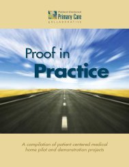 Proof in Practice - Patient-Centered Primary Care Collaborative