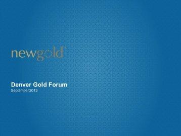 Denver Gold Forum - New Gold