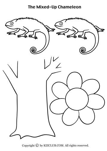 The mixed up chameleon pattern bing images for Mixed up chameleon coloring page