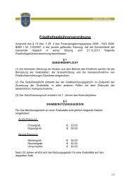 Friedhofsgebührenordnung - Gemeinde Hippach