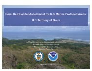 Coral Reef Habitiat Assessment for US Marine Protected Areas: Guam
