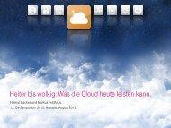 Was die Cloud heute leisten kann. - Oev-symposium.de
