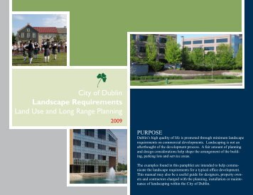 Download the Landscape Requirement Guide - Dublin City, Ohio