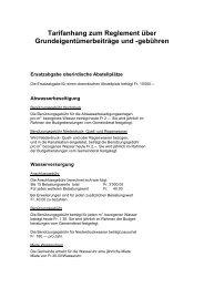 Tarifanhang zum Reglement über ... - in Subingen