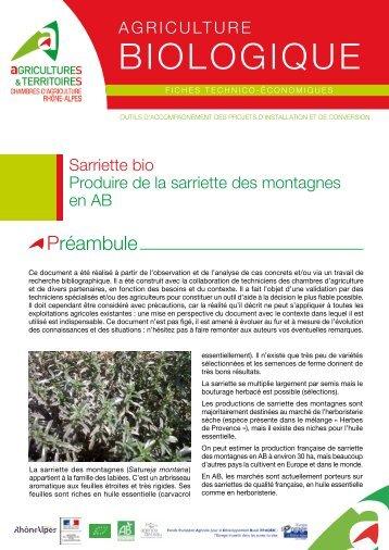Terroir bio rh ne alpes chambres d 39 agriculture de rh ne alpes - Chambre d agriculture charente maritime ...