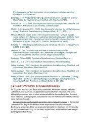 4.2 Reaktive Verfahren: (b) Gruppendiskussion