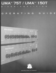 UMA 75T/150T Utility Mixer/Amplifier Operator's Manual - Peavey