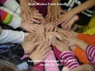 South Windsor Public Schools Superintendent's Budget 2011-2012 ...