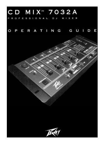CD Mix 7032A Professional DJ Mixer Owner's Manual - Peavey