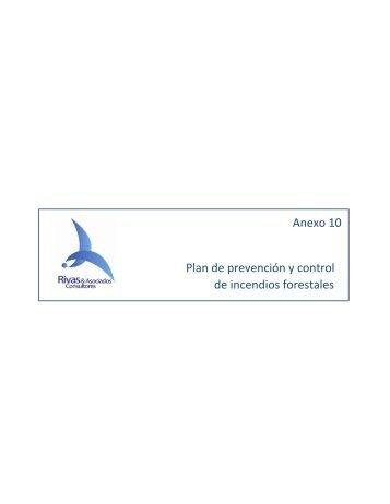Anexo 10 Plan de prevención y control de incendios forestales