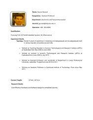 Name: GAURAV VIJAY BANSOD Designation: ASSISTANT ... - SIT
