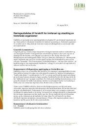 Høringsuttalelse til forskrift for innførsel og utsetting av ... - Sabima