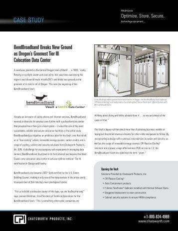 CPI CASE STUDY BEND BROADBAND - Chatsworth Products, Inc.