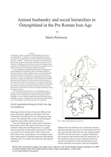Animal husbandry and social hierarchies in Östergötland in the Pre ...