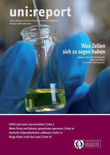 Was Zellen sich zu sagen haben - Otto-von-Guericke-Universität ...