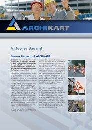 Flyer Virtuelles Bauamt - ARCHIKART Software AG
