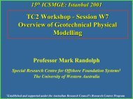 Overview of Geotechnical Physical Modelling ... - Geo-Engineering