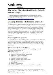 Broken Bay Diocese Cluster - Values Education