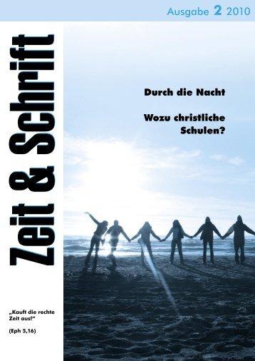Heft 2/2010 - Zeit & Schrift