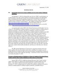 Internal Revenue Service Issues Guidance on Over-the-Counter ...