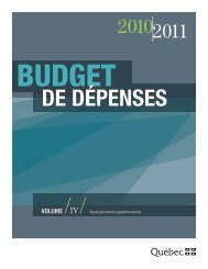 Plan québécois des infrastructures - Secrétariat du conseil du trésor ...