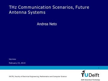 THz Communication Scenarios, Future Antenna Systems