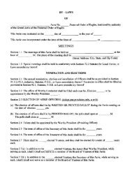 By-Laws blank form - Fraternal Order of Eagles