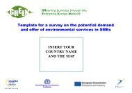 Template for a survey on the potential demand and offer of ...