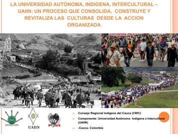 la universidad autónoma, indigena, intercultural – uaiin: un ... - Rimisp