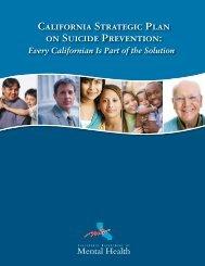 California Strategic Plan on Suicide Prevention - Mental Health ...