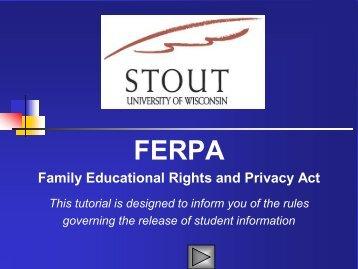 FERPA University of Wisconsin - Stout