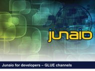 Junaio for developers – GLUE channels