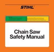 Chain Saw Safety Manual - STIHL