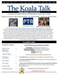 Koala Talk September 2012 - Cowlishaw Elementary School