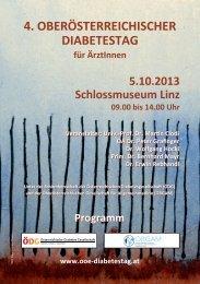 4. oberösterreichischer diabetestag für die praxis - ÖDG