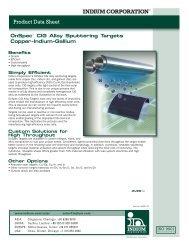 OnSpec CIG Alloy Sputtering Targets 98307 R3