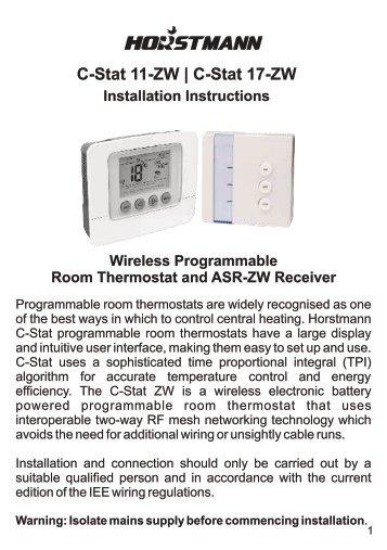 Horstmann 425 range installation instructions c stat 11 zw c stat 17 zw horstmann freerunsca Images