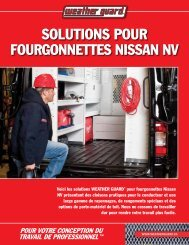 solutions pour fourgonnEttEs nissan nv - Weather Guard